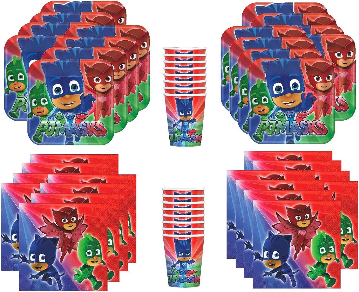 Amazon.com: PJ Masks, paquete suministro fiesta de ...