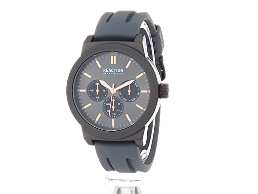 Amazon.com: Kenneth Cole REACTION Mens Sport Quartz Metal and Silicone Casual Watch, Color:Grey (Model: 10031943): Watches