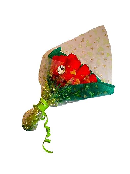 Ramo de rosas DODOT 12 pañales rojo: Amazon.es: Bebé