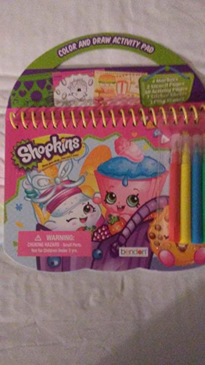 Buy Shopkins Color Draw Activity Pad Online at Low Prices in India ...