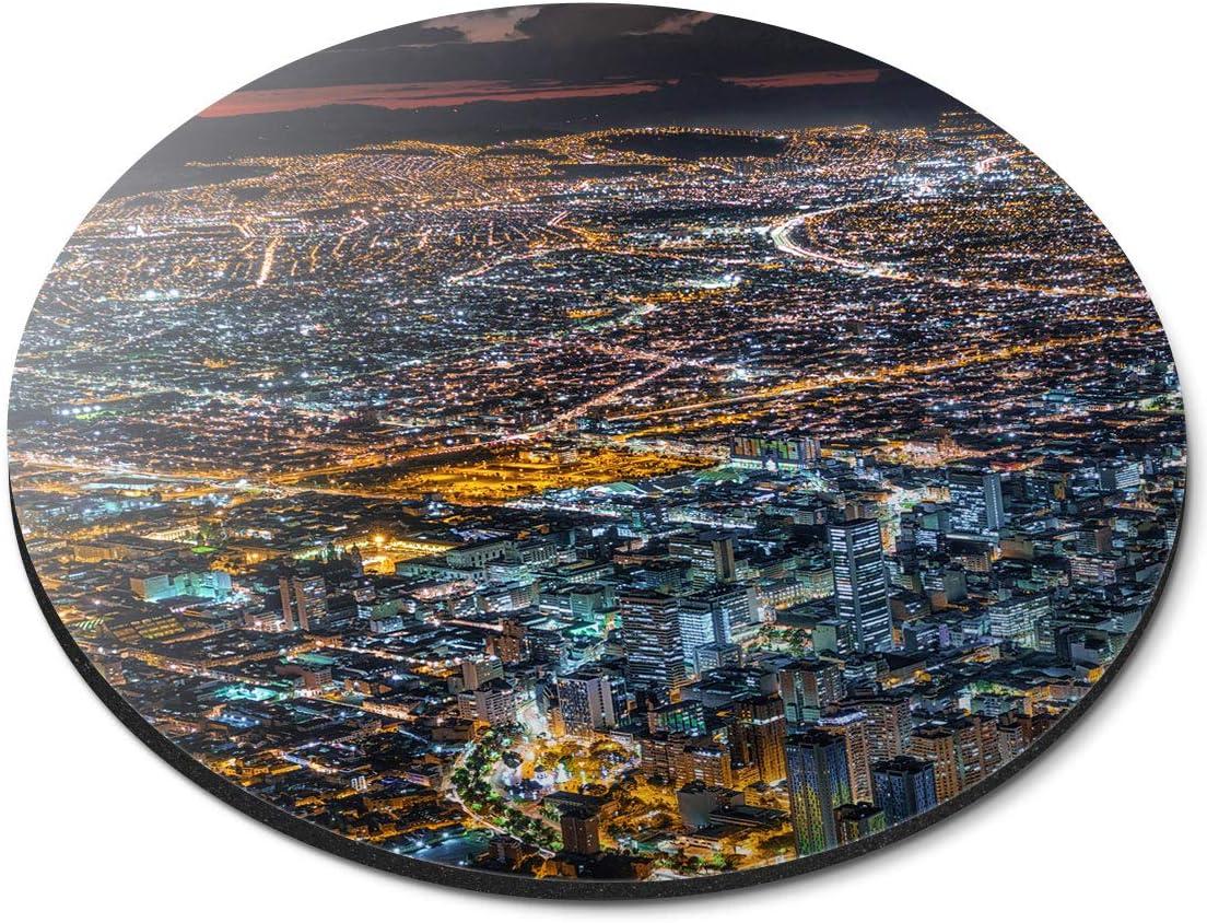 Alfombrilla Redonda para ratón – Bogotá Colombia City Cityscape Office Gift – RM21270