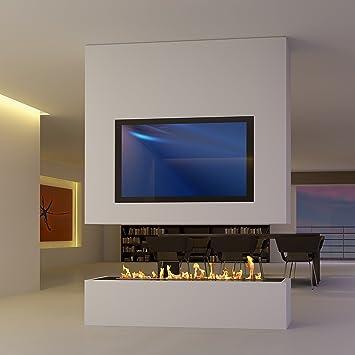 SONDERANFERTIGUNG 8: Raumteiler Mit TV Und Bioethanol / Elektro Opti Myst