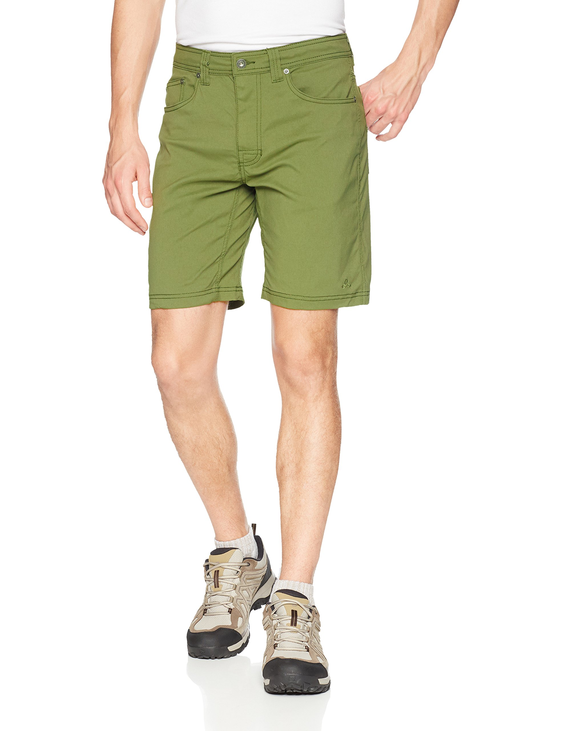 prAna Men's Brion Shorts, Cargo Green, 28W 9L