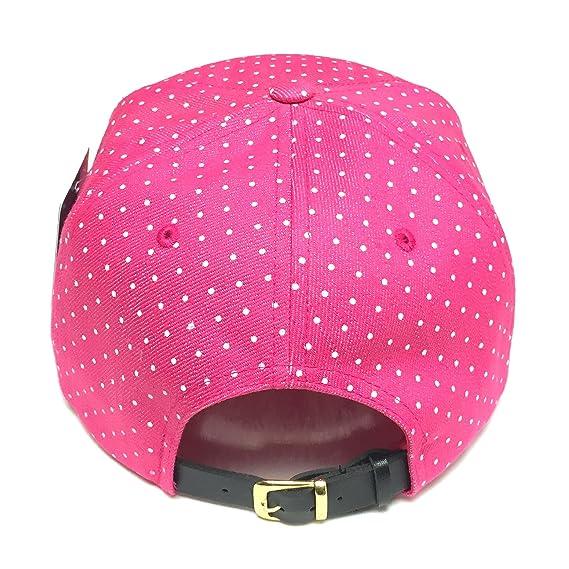 f48f31188aa 6 Panel Polka Dot Print Pattern Unique Cotton Flat Bill Snapback Cap  Adjustable Baseball Cap Hat Men s Women s Couple Hat (Black Red Dot) at  Amazon Men s ...