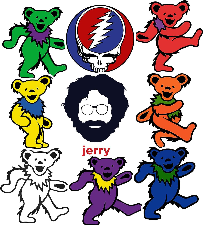 Cartoon Band Sticker Set Grateful Dead