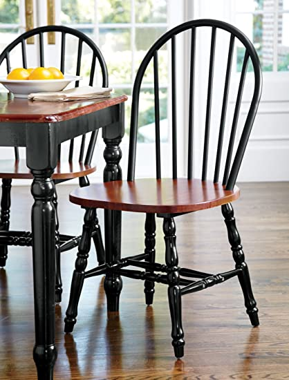 Extra Wide Windsor Dining Chairs   Set Of 2