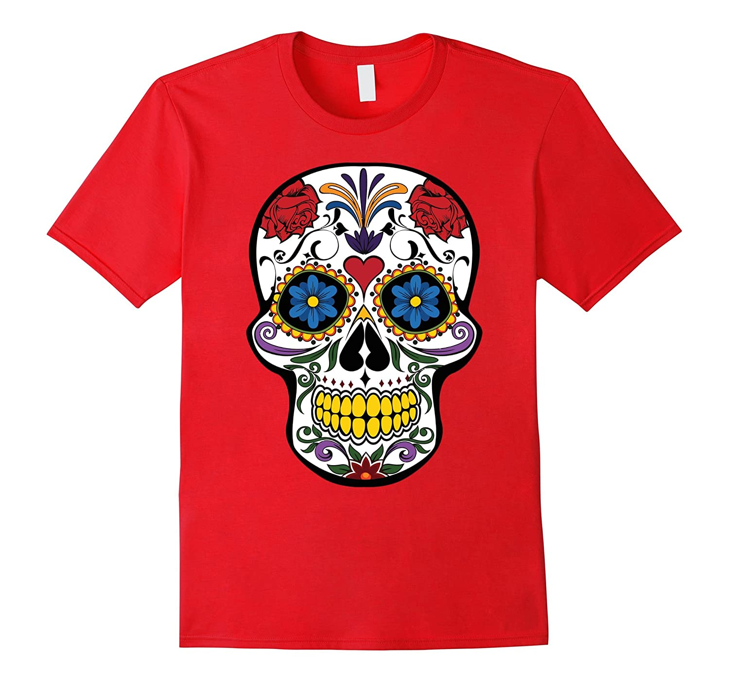 HALLOWEEN Large Fashion Floral Skull T-shirt,Luxury Tee-CL