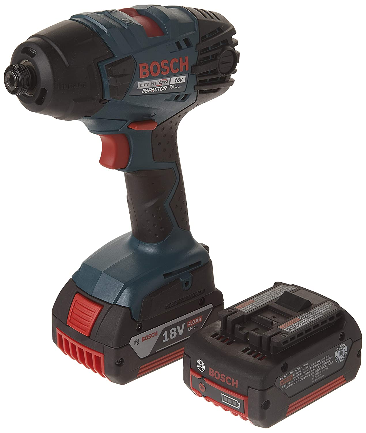 Bosch 26618-01 18-Volt Lithium-Ion 1/4-Hex Impact Drill/Driver Kit with 2 Batteries, Charger and Case