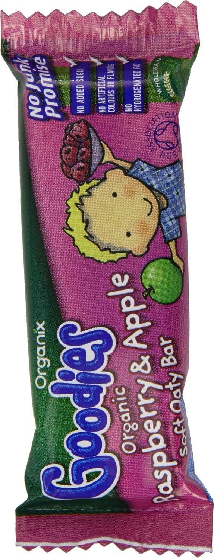 Organix Goodies Organic Raspberry & Apple Soft Oaty Bar 30g (Display Case of 48 Bars) ORGC