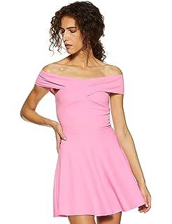 Veni VIDI VICI Blue Bandage Bardot Skater Dress  Amazon.in  Clothing ... d41768bc8