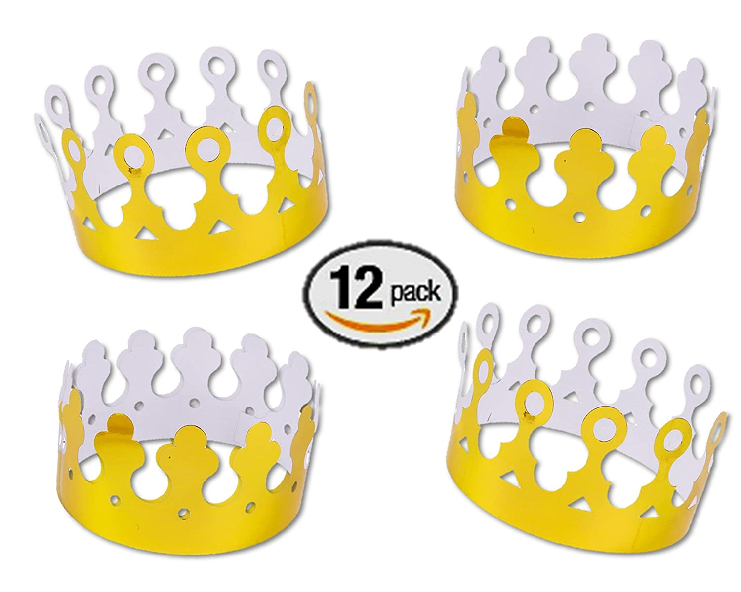 Amazon Gold Foil King Crowns Paper Dozen Toys Games