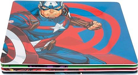 Amazon.com: Marvel Avengers - Juego de 4 platos de melamina ...