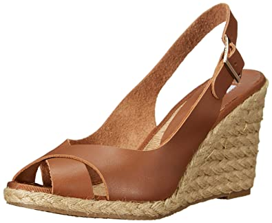 Dune London Women's Kia Espadrille Wedge Sandal, Tan, 3 UK ...