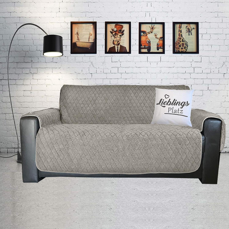 JEMIDI Sesselschöner Sherpa Schonbezug Sesselschutz Schutzbezug Sesselhusse Sofahusse Sessel schöner Sofabezug Sofaschonbezug Sofa Überwurf Sofa Überdecke 3 Sitzer Beige