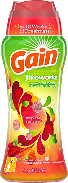 Gain Fireworks in-Wash Scent Booster Beads, Tropical Sunrise, 14.8 Ounce