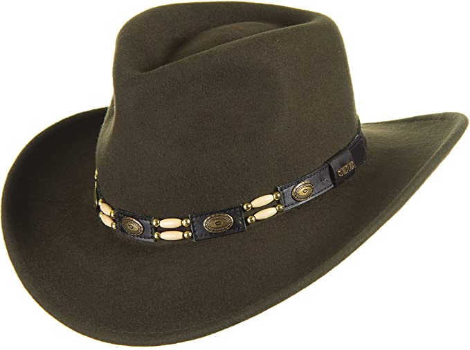 87fb62aeaa0 Overland Outback Crushable Wool Felt Cowboy Hat at Amazon Women s ...