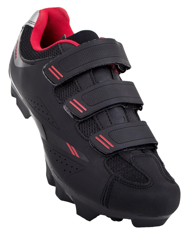 Tommaso Terra 100 Women's Mountain/Fitness SPD Biking Spin Shoe B0711RYZDR 41 EU/ 10 US W|Black/Red