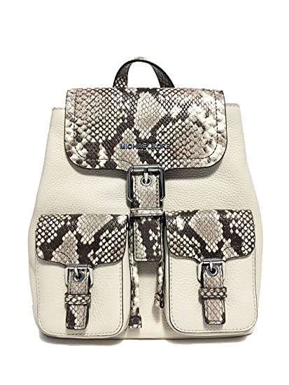c562970fae59a6 Amazon.com | Michael Kors Pebble Susie Leather Large Flap Backpack Natural  | Backpacks