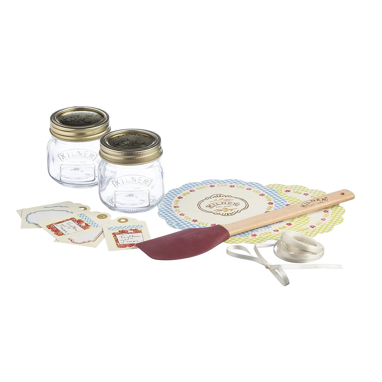 Kilner Jam Gift Set, Clear, 16-Piece 0025.787