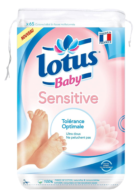 Lot de 12 paquets de 65 cotons Coton b/éb/é peaux sensibles Lotus Baby Sensitive
