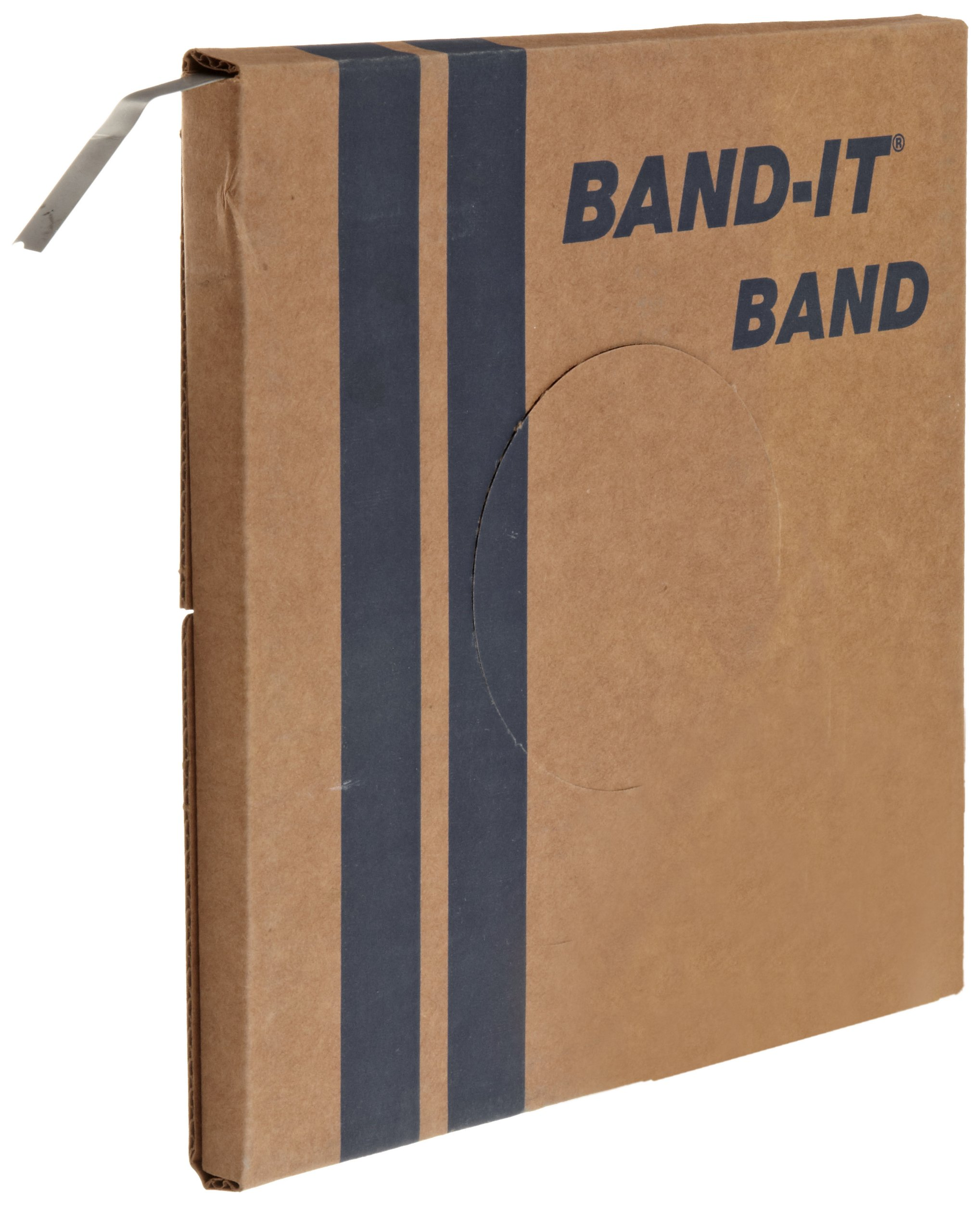 BAND-IT VALU-Strap Band C13399, 200/300 Stainless Steel, 3/8'' Wide x 0.015'' Thick (100 Foot Roll) by Band-It