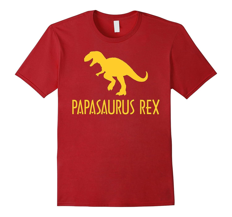 Papasaurus Rex Mens T-shirt Fathers Day Shirts-RT