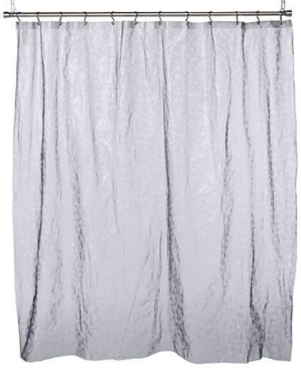 Dainty Home SPH3DSI Sphere 3D Eva Shower Curtain 70 By 72 Inch Silver