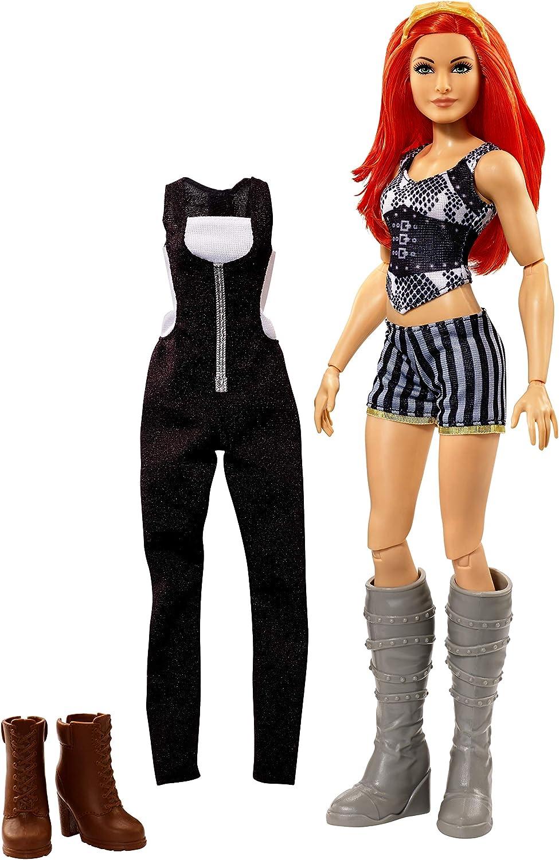 WWE Girls Figura de Acci/ón Luchadora Superestrella Becky Mattel GCJ45