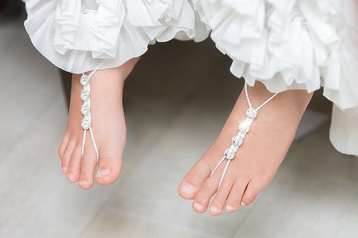 c192613355b1ee Amazon.com  Girls Barefoot Sandals
