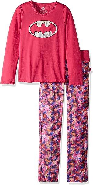 DC Comics Girls Batgirl Long Sleeve Yoga Pajama Set