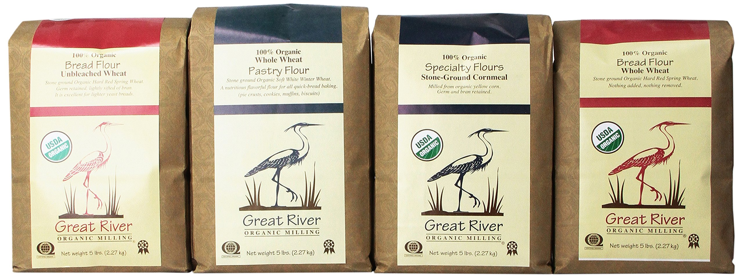 Great River Organic Milling Baker's Gift Set, 4 Pack, 5-Pound (pack of 4)