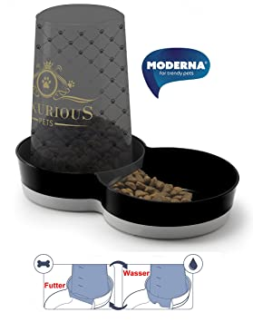 Moderna Tolva para Perros y Gatos Luxurious: Amazon.es: Productos para mascotas
