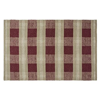 amazon com everson wool cotton rug rect 48x72 kitchen dining
