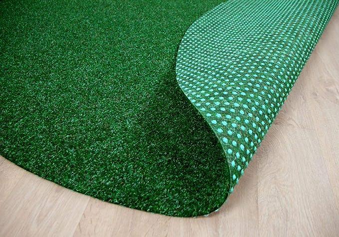 Alfombra de c/ésped Artificial Redonda 13 tama/ños Balc/ón para Jard/ín Verde Mixto Terraza Snapstyle Kingston