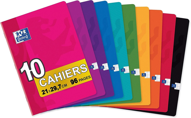 Oxford Classic - Pack de 10 libretas grapadas de tapa blanda, A4: Amazon.es: Oficina y papelería