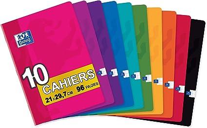 Oxford Classic - Pack de 10 libretas grapadas de tapa blanda, A4 ...