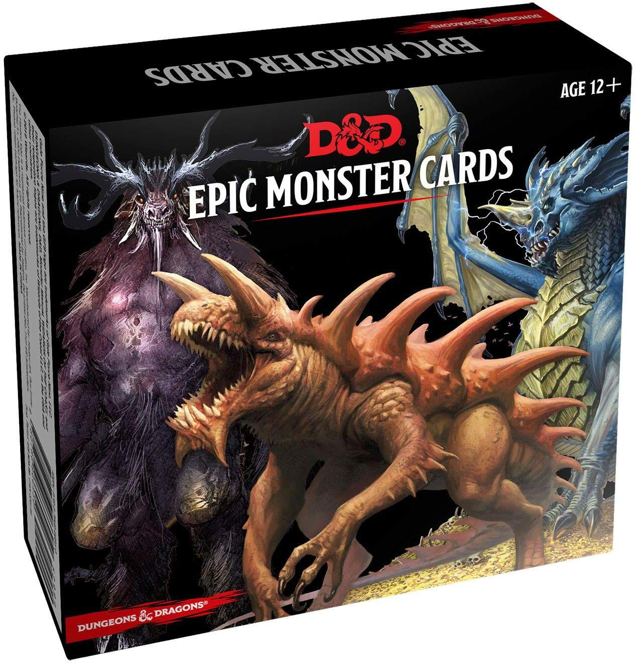 Dungeons & Dragons Spellbook Cards: Epic Monsters (D&D Accessory) by Wizards of the Coast