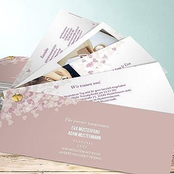 Hochzeitseinladungen Selber Gestalten 1000 Herzen 15 Karten