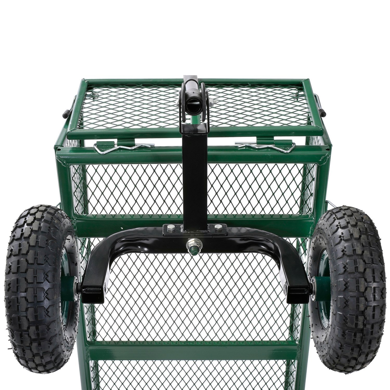 Sandusky Lee CW3418 Muscle Carts Steel Utility Garden Wagon, 400 lb. Load Capacity, 21-3/4'' Height x 34'' Length x 18'' Width by Sandusky (Image #6)