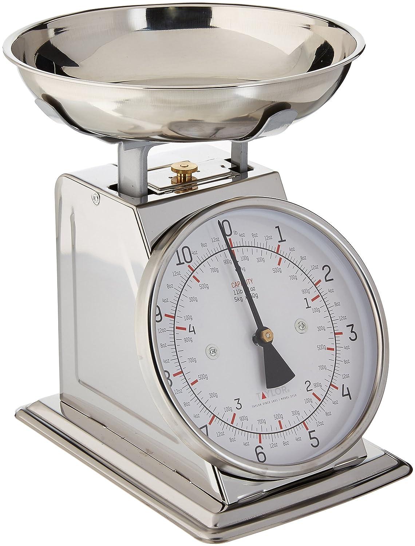 Taylor 371021 - Báscula de cocina (Mechanical kitchen scale, 5 kg, 50 g, Acero inoxidable, Blanco, Acero inoxidable, Acero inoxidable): Amazon.es: Hogar
