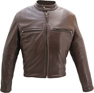 product image for Cafe Racer Jacket Brown (52 Long/Tall)