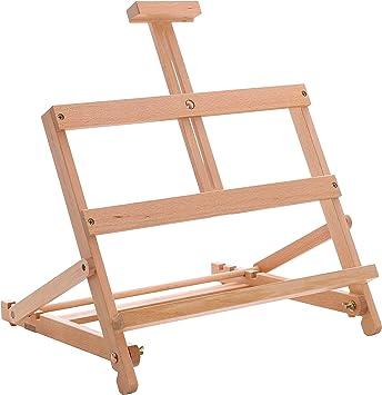 US Art Supply Adjustable Wood Tabletop H-Frame Studio Artist Easel Painting