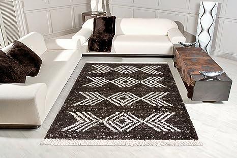 Tappeti Colorati Per Salotto : Lussuoso tappeto a pelo lungo shaggy i frange tappeto per salotto