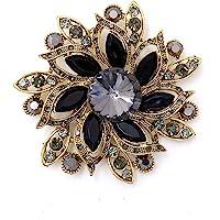 LAXPICOL Vintage Women's Austrian Crystal Elegant Flower Brooch Wedding Broach Pin