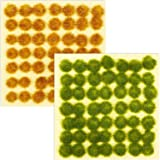 Blulu 98 Pieces Static Grass Tuft 3 mm Self Adhesive Static Grass Railway Artificial Grass Modeling Wargaming Terrain…