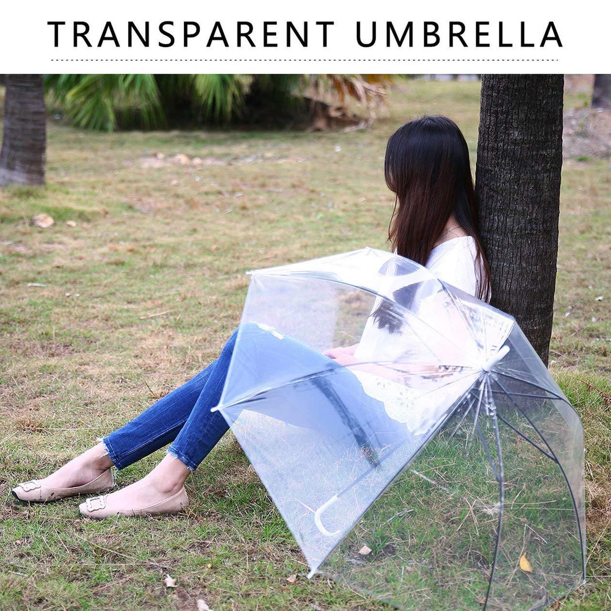 Couleur: Transparent HONGIGI Coupe-Vent Transparent Parapluie Automatique Clair Transparent pour Mariage Favor Favor Tenir /À Lint/érieur Pluie Prot/éger