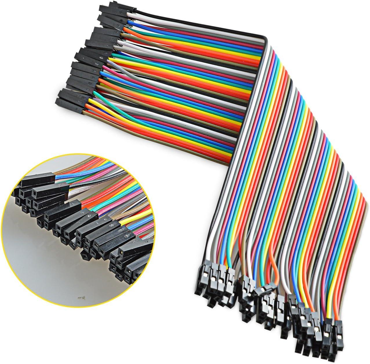 Neuftech 40x 20cm Female Female Jumper Wire Kabel Computer Zubehör