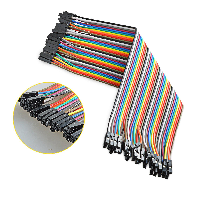 Neuftech 40x 20cm 'maschio a maschio' Breadboard Dupont Jumper cavo cavi per Arduino Raspberry Pi EU-Dupont Cable M-M 20cm