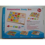 Wooden Computation Study Box - Modern Math Teaching Visual Aids Educational Toys for Ages 3+ Kids & Children