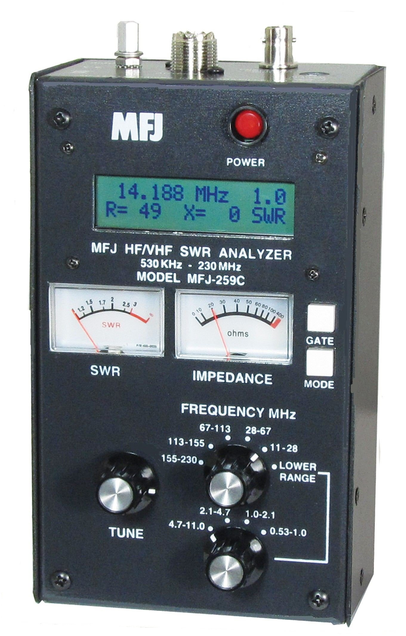 MFJ-259C Antenna Analyzer with Nifty! Quick Refernce Guide and Ham Guides Pocket Reference Card Bundle!